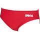 arena Solid Brief Men red/white
